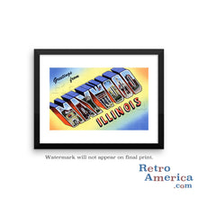 Greetings from Maywood Illinois IL Postcard Framed Wall Art