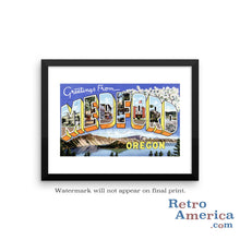 Greetings from Medford Oregon OR Postcard Framed Wall Art