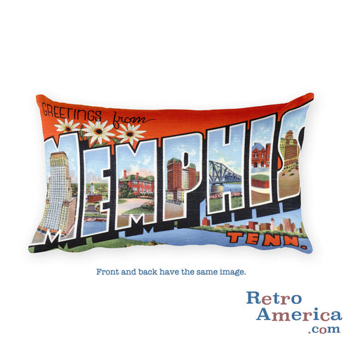 Greetings from Memphis Tennessee Throw Pillow