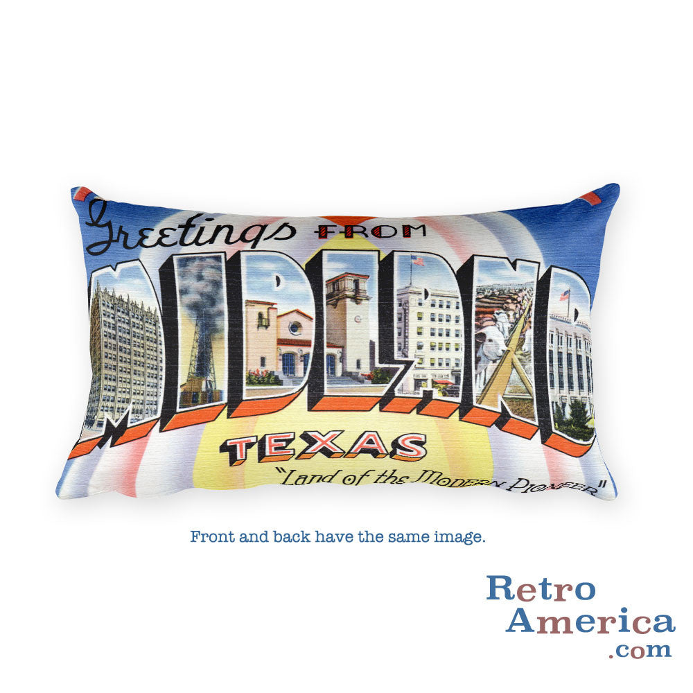 Greetings from Midland Texas Throw Pillow