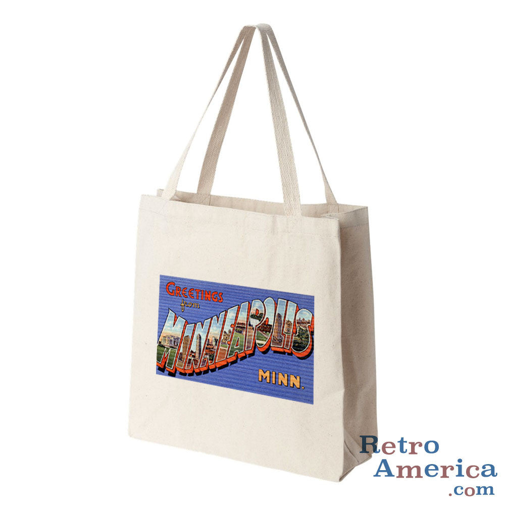 Greetings from Minneapolis Minnesota MN 1 Postcard Tote Bag