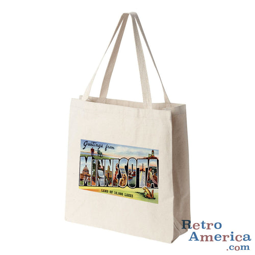 Greetings from Minnesota MN 2 Postcard Tote Bag