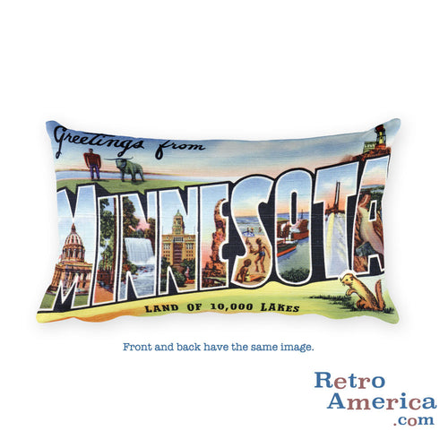 Greetings from Minnesota Throw Pillow 2