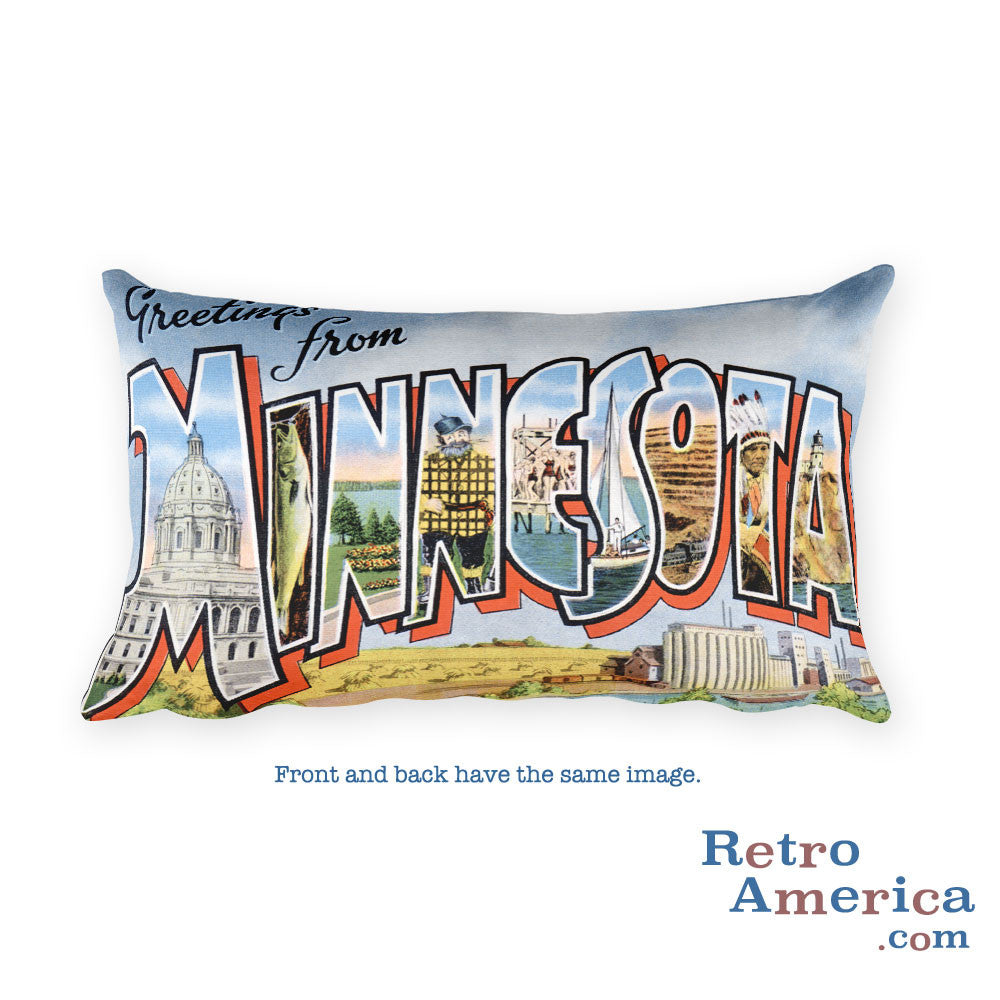 Greetings from Minnesota Throw Pillow 3