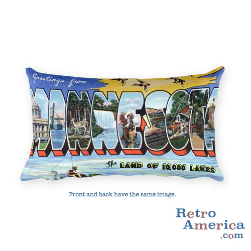Greetings from Minnesota Throw Pillow 4