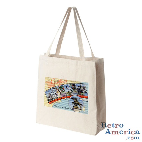 Greetings from Missouri MO 2 Postcard Tote Bag