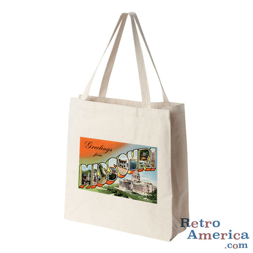 Greetings from Missouri MO 5 Postcard Tote Bag