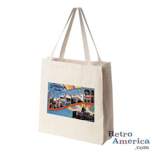 Greetings from Missouri MO 6 Postcard Tote Bag