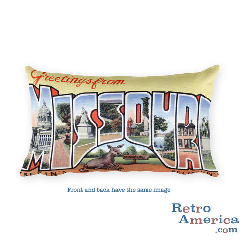 Greetings from Missouri Throw Pillow 3