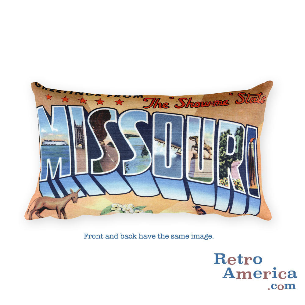 Greetings from Missouri Throw Pillow 4