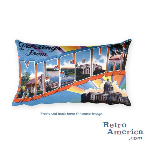 Greetings from Missouri Throw Pillow 6