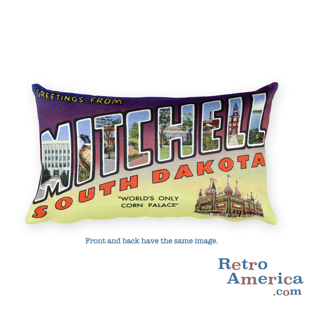 Greetings from Mitchell South Dakota Throw Pillow
