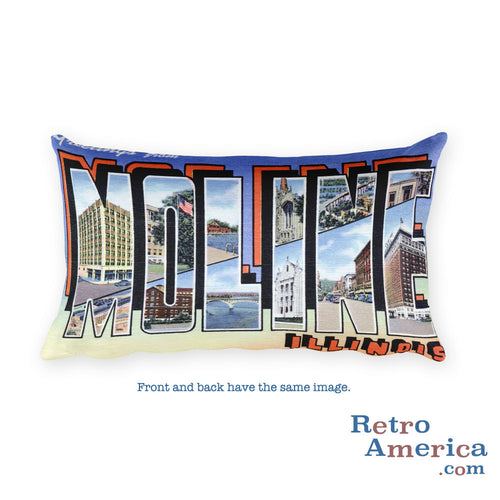 Greetings from Moline Illinois Throw Pillow