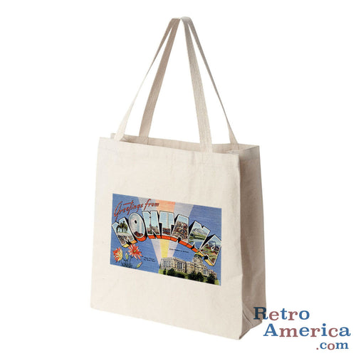 Greetings from Montana MT 1 Postcard Tote Bag