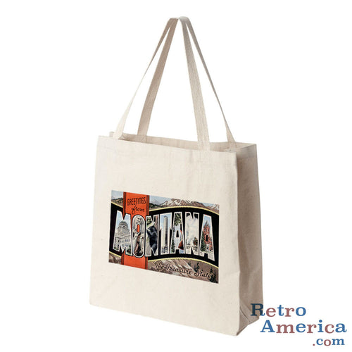 Greetings from Montana MT 2 Postcard Tote Bag