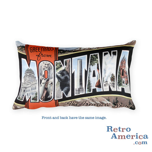 Greetings from Montana Throw Pillow 2