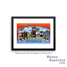 Greetings from Monterey California CA Postcard Framed Wall Art