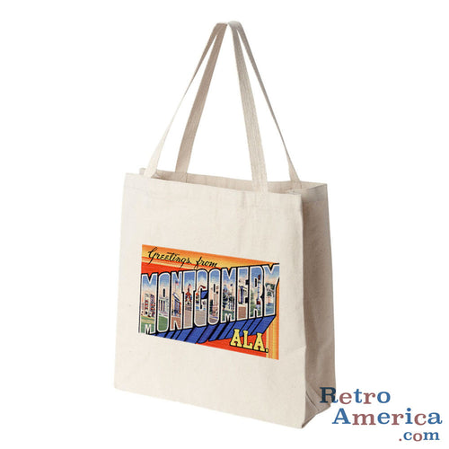 Greetings from Montgomery Alabama AL Postcard Tote Bag