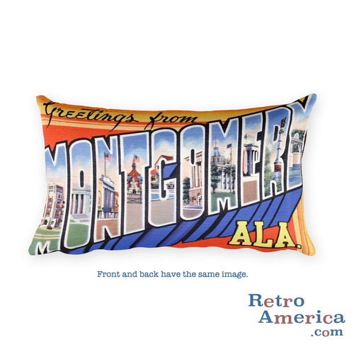 Greetings from Montgomery Alabama Throw Pillow