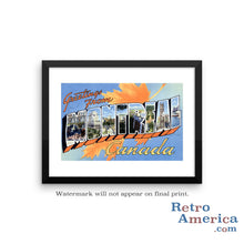 Greetings from Montreal Canada Canada 1 Postcard Framed Wall Art