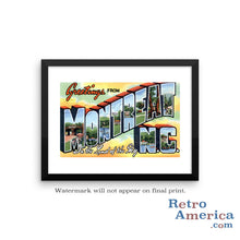 Greetings from Montreat North Carolina NC Postcard Framed Wall Art