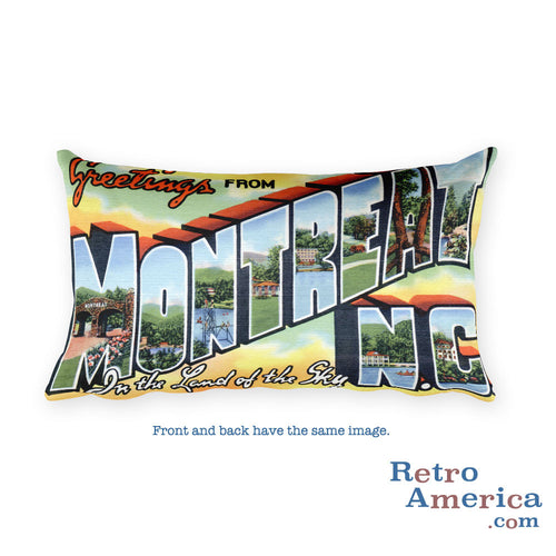 Greetings from Montreat North Carolina Throw Pillow