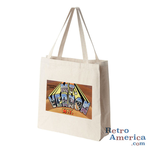 Greetings from Mt Vernon New York NY Postcard Tote Bag
