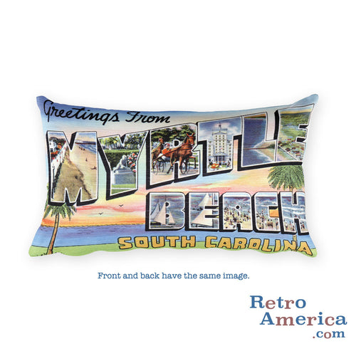 Greetings from Myrtle Beach South Carolina Throw Pillow 2