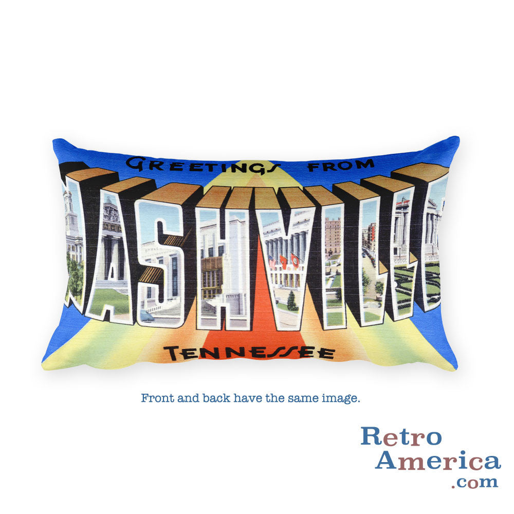 Greetings from Nashville Tennessee Throw Pillow