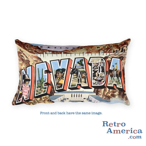 Greetings from Nevada Throw Pillow 2