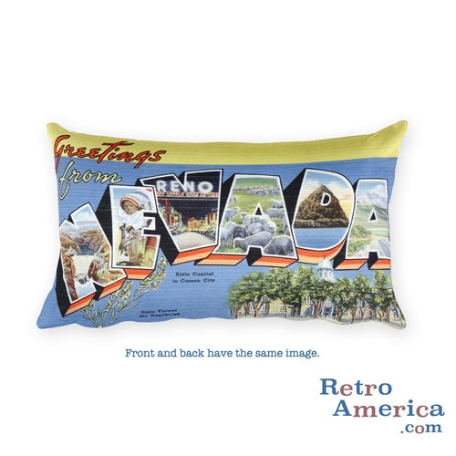 Greetings from Nevada Throw Pillow