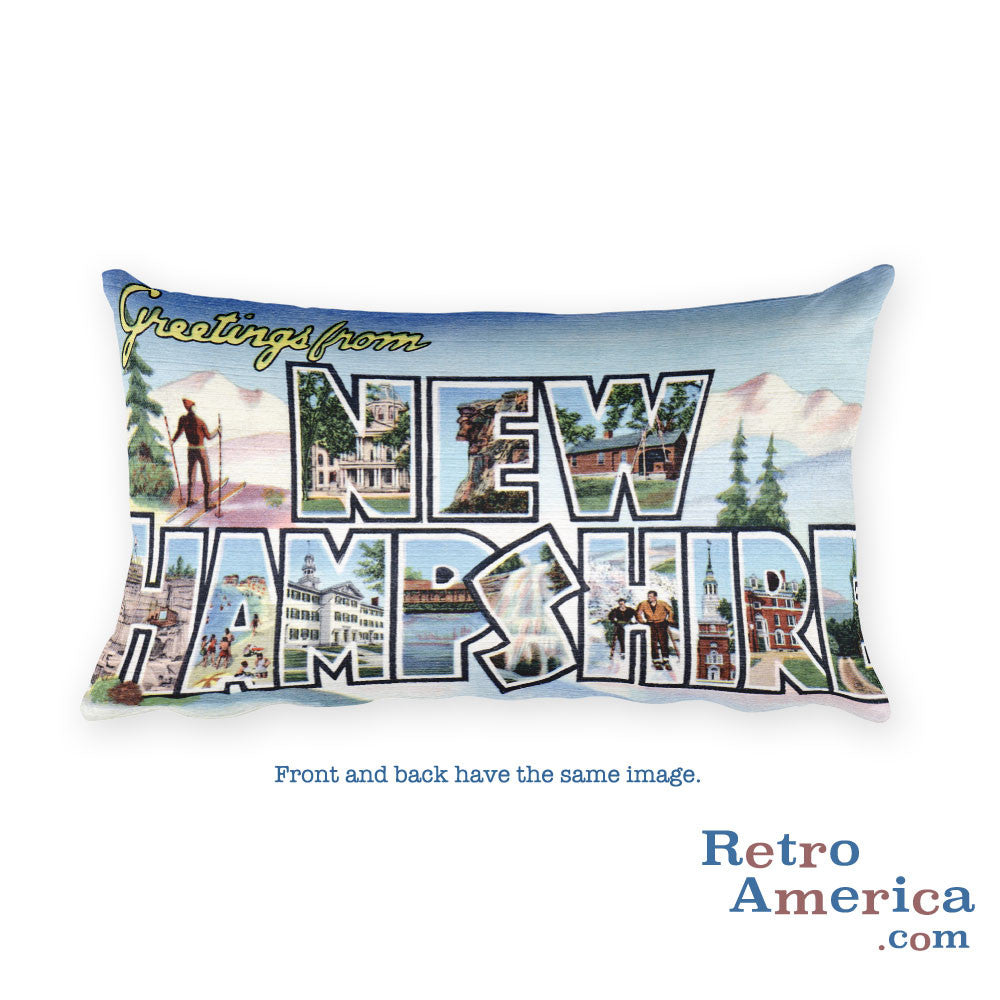 Greetings from New Hampshire Throw Pillow 2