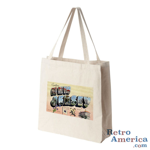 Greetings from New Jersey NJ 3 Postcard Tote Bag