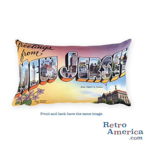 Greetings from New Jersey Throw Pillow 1