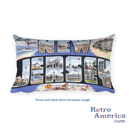 Greetings from New Jersey Throw Pillow 2
