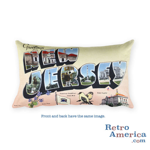 Greetings from New Jersey Throw Pillow 3