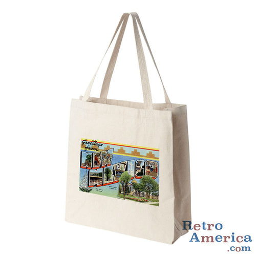 Greetings from New Mexico NM 1 Postcard Tote Bag