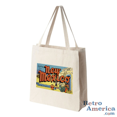 Greetings from New Mexico NM 2 Postcard Tote Bag