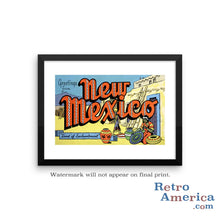 Greetings from New Mexico NM 2 Postcard Framed Wall Art