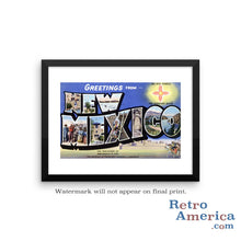Greetings from New Mexico NM 3 Postcard Framed Wall Art