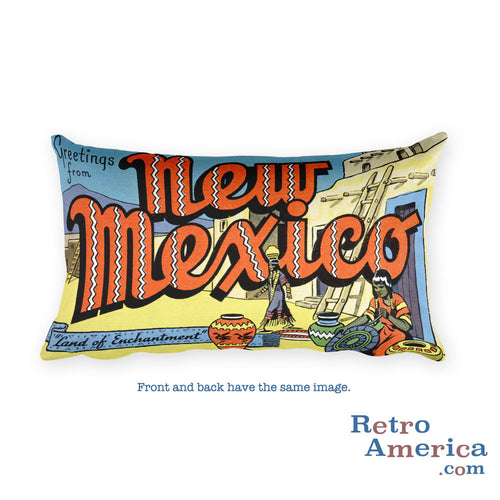 Greetings from New Mexico Throw Pillow 2