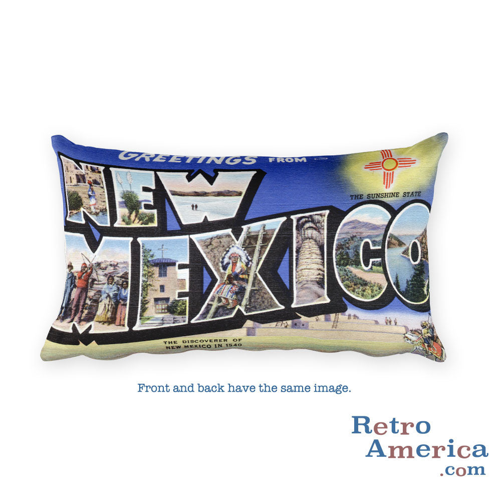 Greetings from New Mexico Throw Pillow 3