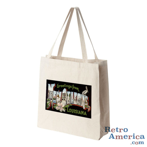 Greetings from New Orleans Louisiana LA 1 Postcard Tote Bag