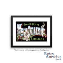 Greetings from New Orleans Louisiana LA 1 Postcard Framed Wall Art