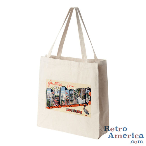 Greetings from New Orleans Louisiana LA 3 Postcard Tote Bag
