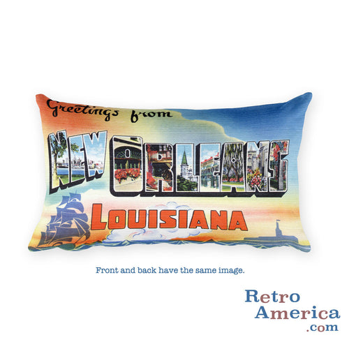 Greetings from New Orleans Louisiana Throw Pillow 1