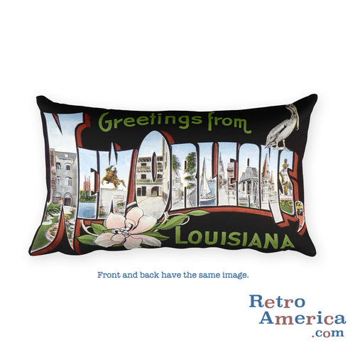 Greetings from New Orleans Louisiana Throw Pillow 3