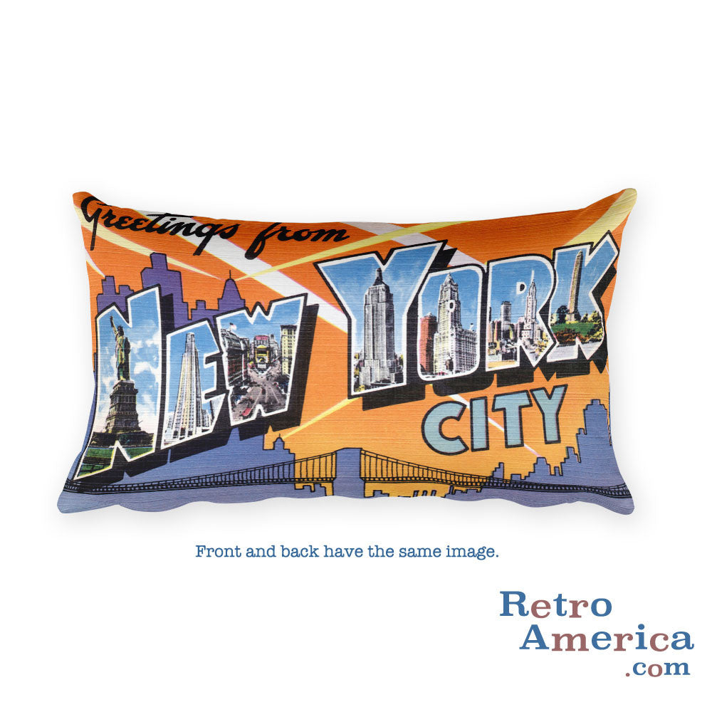 Greetings from New York City Nyc New York Throw Pillow 1