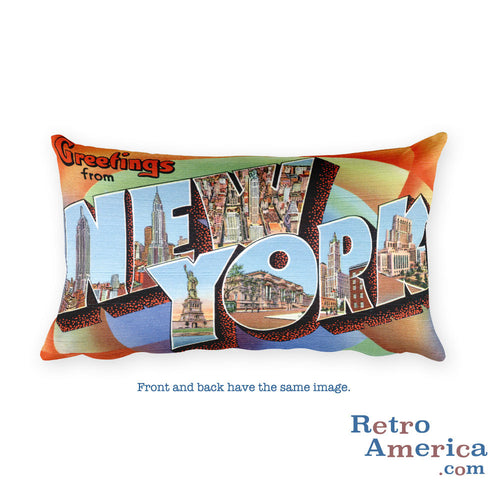 Greetings from New York Throw Pillow 2