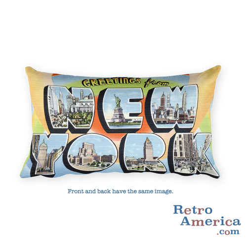 Greetings from New York Throw Pillow 3
